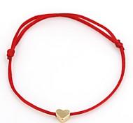 economico -Per donna Braccialetto di amicizia Intrecciato Cuori Donne Romantico Di tendenza Corda Gioielli braccialetto Nero / Rosso / Rosso scuro Per Quotidiano Per uscire