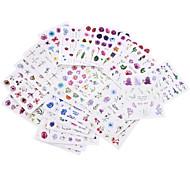economico -24 fogli adesivi per unghie adesivo per filigrana di fiori colore rosa fiore per unghie tendenza tutto-fiammifero adesivo a trasferimento d'acqua per decorazioni fai da te per unghie