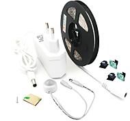 economico -ZDM® 3M Set luci 180 LED 2835 SMD 8mm 1Impostare la staffa di montaggio 1 x 12V 2A Adattatore 1 x sensore PIR 1 set Bianco caldo Luce fredda Impermeabile Nuovo design Auto-adesivo 100-240 V / IP65