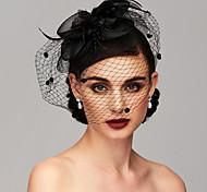 economico -Elegante Pelle / Rete Cappello Kentucky Derby / fascinators / Accessori per capelli con Piume / Fantasia floreale / Floreale 1 pc Matrimonio / Occasioni speciali / Tè Copricapo