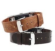 economico -1 pc Cinturino per orologio  per Fitbit Cinturino di pelle Vera pelle Sostituzione Custodia con cinturino a strappo per Fitbit Charge 2