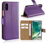 abordables -téléphone Coque Pour Apple Coque Intégrale Wallet iPhone X iPhone 8 Plus iPhone 8 iPhone 7 Plus iPhone 7 iPhone 6s Plus iPhone 6s iPhone 6 Plus iPhone 6 iPhone SE / 5s Portefeuille Porte Carte Avec