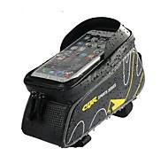 economico -Bag Cell Phone Marsupio triangolare da telaio bici 6 pollice Ompermeabile Ciclismo per iPhone 8 Plus / 7 Plus / 6S Plus / 6 Plus Rosso Grigio scuro Zenzero Bicicletta