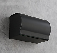 abordables -Distributeur de papier toilette mural en aluminium noir mat Distributeur de papier toilette-boîte de rouleau de papier toilette pour salle de bain mural