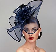 economico -Antico Elegante Pelle / Rete / Lino / Raion Cappello Kentucky Derby / fascinators / Accessori per capelli con Piume / Fantasia floreale / Floreale 1 pc Matrimonio / Occasioni speciali / Tè Copricapo