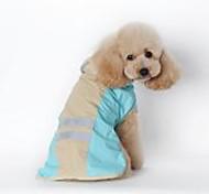abordables -Chien Chat Imperméable Vêtements pour chiots Couleur Pleine Etanche Coupe-vent De plein air Vêtements pour Chien Vêtements pour chiots Tenues De Chien Bleu Rose Costume pour fille et garçon chien