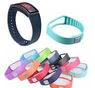 economico -Cinturino intelligente per Samsung Galaxy 1 pcs Cinturino sportivo Ceramica Silicone Sostituzione Custodia con cinturino a strappo per Gear Fit