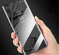 economico -telefono Custodia Per Samsung Galaxy Integrale Custodia flip Nota 9 Nota 8 Nota 5 Nota 4 A specchio Con chiusura magnetica Tinta unica Resistente PC