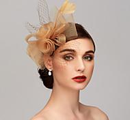 economico -Pelle / A rete Kentucky Derby Hat / fascinators / Accessori per capelli con Piume / Fantasia floreale / Floreale 1pc Matrimonio / Occasioni speciali / Tè Copricapo