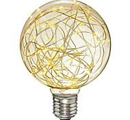 abordables -1pc 3 W Ampoules à Filament LED 200-300 lm E26 / E27 G95 33 Perles LED SMD Décorative Étoilé Blanc Chaud 85-265 V / RoHs