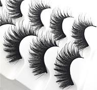abordables -10 pcs Cil Naturel Bouclé Epais multi-alat Pour Exercice Usage quotidien Fibre Cils Entiers Epais - Maquillage Brillant & Séduisant Haute qualité Maquillage Quotidien Cosmétique Accessoires de