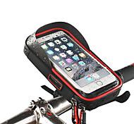 economico -Ruota su Borsa per cellulare Sacca da manubrio bici Schermo touch Ompermeabile Foro per cuffia Borsa da bici TPU Spugna Nylon Marsupio da bici Borsa da bici iPhone X / iPhone XR / iPhone XS Mountain