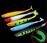 abordables -5 pcs leurres souples Leurre souple Shad Facile à Utiliser Paddle Tail Flottant Bass Truite Brochet Pêche en mer Pêche à la mouche Pêche d'appât