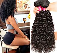 abordables -Lot de 4 Tissage de cheveux Cheveux Brésiliens Bouclé Extensions de cheveux Naturel humains Cheveux Naturel Rémy Paquets de 100% Remy Hair Weave 400 g Tissages de cheveux humains Extensions Naturelles