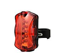 economico -LED Luci bici Luce posteriore per bici luci di sicurezza Ciclismo da montagna Bicicletta Ciclismo Impermeabile Super luminoso Rilascio rapido Leggero Li-ion 50 lm AAA Rosso Campeggio / Escursionismo