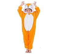 economico -Per bambini Pigiama Kigurumi Volpe Pigiama a pagliaccetto Flanella Arancione Cosplay Per Ragazzi e ragazze Pigiama a fantasia animaletto cartone animato Feste / vacanze costumi