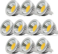 abordables -zdm 10pcs gradable 5w mr16 cob 400-450 lm blanc chaud / blanc froid / whitea naturel 40 degrés angle de faisceau projecteur ac / dc12v