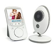 economico -1 mp baby monitor 720p 2.4 hd display video baby monitor con fotocamera e audio schermo ips portata 480ft batteria 4500 mah audio a due vie zoom con un clic visione notturna e monitor termico