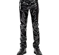abordables -Pantalon Costume de Cosplay Costume de peau Adulte Spandex Latex Lycra Spandex Costumes de Cosplay Punk Briant Homme Couleur unie Noël Halloween Carnaval