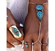 economico -Per donna Braccialetti anello Stile vintage Schiavi d'oro Donne Artistico Resina Gioielli braccialetto Turchese Per Carnevale Bar Costumi Cosplay