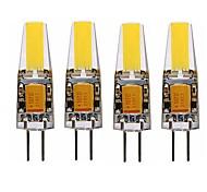 economico -4 pezzi 4 W Luci LED Bi-pin 350 lm G4 T 1 Perline LED COB Decorativo Bianco caldo Bianco 12 V