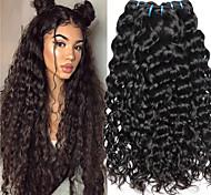 abordables -Lot de 3 Tissage de cheveux Cheveux Indiens Ondulation Extensions de cheveux Naturel humains Cheveux Naturel Rémy Paquets de 100% Remy Hair Weave 300 g Tissages de cheveux humains Extensions