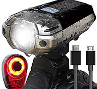 abordables -LED Eclairage de Velo Kit Eclairage Bicyclette Vélo Rechargeable Eclairage de Vélo Arrière Eclairage sécurité / feu clignotant velo VTT Vélo tout terrain Vélo Cyclisme Imperméable Super brillant