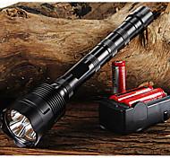 economico -Trustfire Torce LED 3800/3000 lm LED LED 3 emettitori 5 Modalità di illuminazione con batterie e caricabatterie Messa a fuoco regolabile Impugnatura antiscivolo Campeggio / Escursionismo