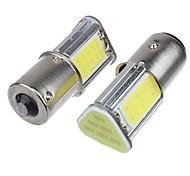 abordables -2pcs p21w bay15d ba15s p21 / 5w 1156 led cob auto lumière de frein blanche couleur voiture led ampoules arrière clignotant lampe stationnement dc12v