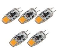 abordables -5 pièces 2 W LED à Double Broches 180 lm G4 T 1 Perles LED COB Décorative Blanc Chaud Blanc 12 V