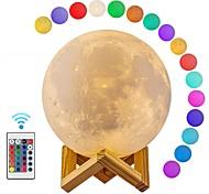 abordables -lampe de lune led 3d lumière de lune d'impression avec télécommande rechargeable couleur changeante lampes de lumière de lune pour les enfants amoureux cadeaux d'anniversaire 12 cm / 4.72 pouces