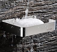 abordables -porte-savon avec supports rectangle creux contemporain en acier inoxydable mural ruban 1pc
