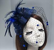 economico -Pelle / A rete fascinators / Accessori per capelli con Piume / Fantasia floreale / Floreale 1pc Matrimonio / Occasioni speciali Copricapo