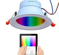 abordables -1 pc 9 W 720 lm 48 Perles LED Spectre complet Intensité Réglable Installation Facile LED Encastrées RGB + Blanc 110-240 V Commercial Maison / Bureau Salon / Salle à Manger