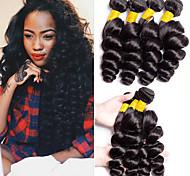 abordables -Lot de 4 Tissage de cheveux Cheveux Brésiliens Ondulation Lâche Extensions de cheveux humains Cheveux Naturel Rémy 100% faisceaux d'armure de cheveux remy 400 g Tissages de cheveux humains Extensions