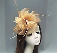 economico -Pelle / A rete fascinators / Accessori per capelli con Piume / Fantasia floreale / Floreale 1pc Matrimonio / Occasioni speciali / Tè Copricapo