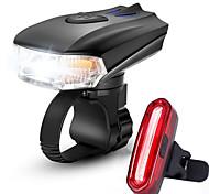 abordables -LED Eclairage de Velo Kit Eclairage Bicyclette Vélo Rechargeable Eclairage de Vélo Avant Eclairage de Vélo Arrière VTT Vélo tout terrain Vélo Cyclisme Imperméable Modes multiples Induction / ABS