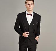 abordables -Couleur Pleine Coupe Sur-Mesure Laine / Polyster Costume - En Pointe Droit 2 boutons / costumes