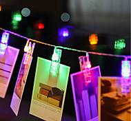 economico -ZDM® 4m Fili luminosi 40 LED LED Dip 1 set Bianco caldo Multicolore Impermeabile USB Feste Alimentazione USB Batterie AA alimentate