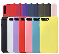 economico -telefono Custodia Per Huawei Per retro Silicone Custodia in silicone Huawei P20 Huawei P20 Pro Huawei P20 lite Effetto ghiaccio Tinta unica Morbido Silicone