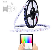 abordables -zigbee 100-240v étanche 5m rvb bandes intelligentes supportent le contrôle de l'application / fonction de synchronisation pour alex / google home