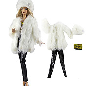 abordables -Accessoires de poupée Tenue de poupée Pantalon de poupée Lolita décontractée Deux Pièces Mode Etoffe non tissé Tulle Dentelle Tissu Tissu de coton Tissu Denim Jouet fait main pour les cadeaux