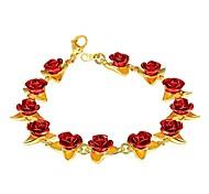 economico -Per donna Bracciale Cammeo Rose Donne Di tendenza Rame Gioielli braccialetto Oro rosa / Oro / Argento Per Regalo Quotidiano