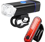 abordables -LED Eclairage de Velo Kit Eclairage Bicyclette Vélo Rechargeable Eclairage de Vélo Arrière Eclairage sécurité / feu clignotant velo VTT Vélo tout terrain Vélo Cyclisme Imperméable Modes multiples