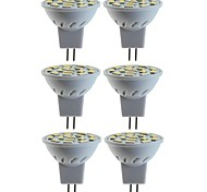 abordables -6pcs 5 W 80 W Spot LED 260 lm MR11 MR11 15 Perles LED SMD 5060 Décorative Blanc Chaud Blanc Froid 12 V