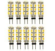 abordables -10pcs 3 W LED à Double Broches 180 lm G4 T 13 Perles LED SMD 5050 Décorative Blanc Chaud Blanc Rouge 12 V