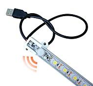economico -ZDM® 0.5m Strisce luminose LED rigide Luci intelligenti 27 LED 5050 SMD 1pc Bianco caldo Luce fredda Impermeabile USB Nuovo design Alimentazione USB