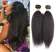 abordables -3 faisceaux de cheveux tisse les cheveux brésiliens extensions de cheveux humains yaki cheveux humains remy 100% faisceaux d'armure de cheveux remy 300 g de cheveux de couleur naturelle / extensions