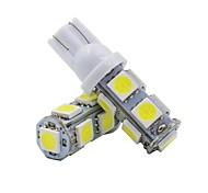 abordables -Automatique LED Éclairage intérieur T10 Ampoules électriques 150 lm SMD 5050 1 W 9 Pour Toyota / Gué / GM Odyssée / Ajuster / Civique 2016 2 pièces
