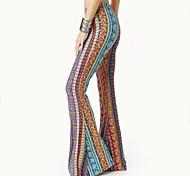 economico -Hippie Da discoteca Retrò vintage Anni '60 Hippie Anni '70 Discoteca Pantalone Tipo Funk Per donna Cotone Costume Con stampe / Giallo / Blu inchiostro Vintage ▾ Cosplay / Pantaloni